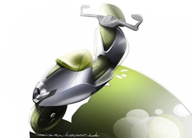Bocetos de la smart e-scooter