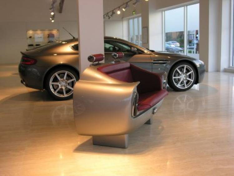 Asiento trasero del Aston Martin DB6