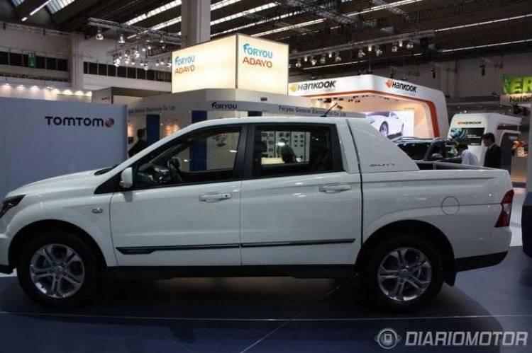 SsangYong SUT-1, el nuevo pick-up de SsangYong se deja ver en Frankfurt