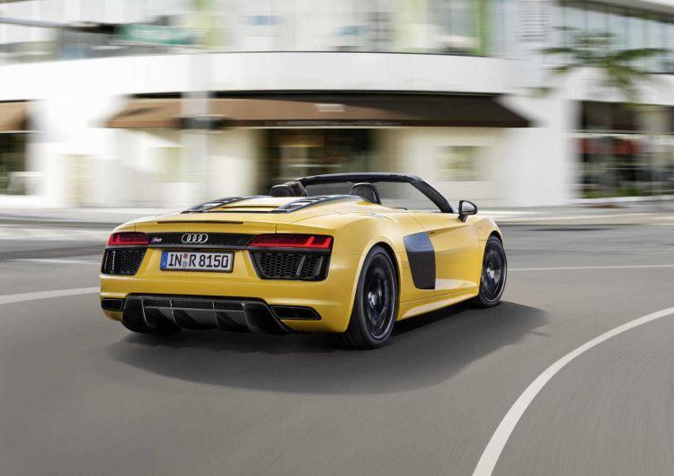 Start Stop Audi R8 V10 Spyder Amarillo