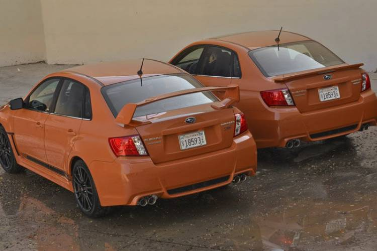 Subaru WRX STI Orange