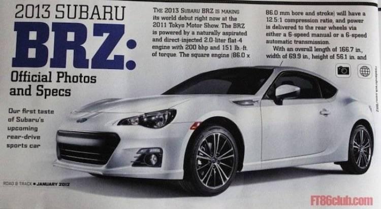 El Subaru BRZ tendrá una versión de competición