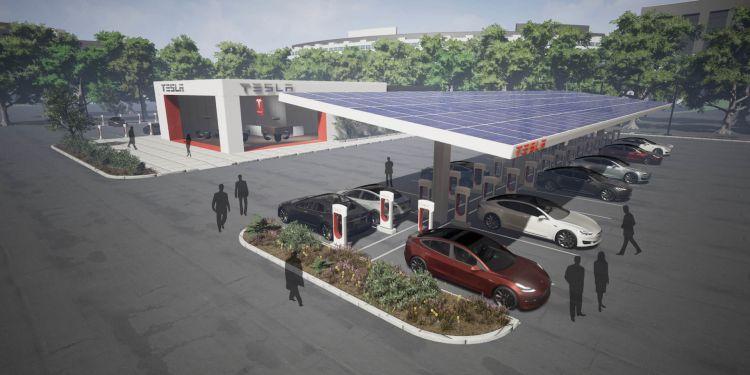 Supercharger Tesla Restaurantes