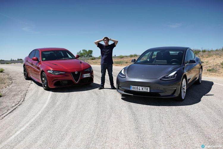 Tesla Model 3 Vs Alfa Romeo Giulia Quadrifoglio 0619 033