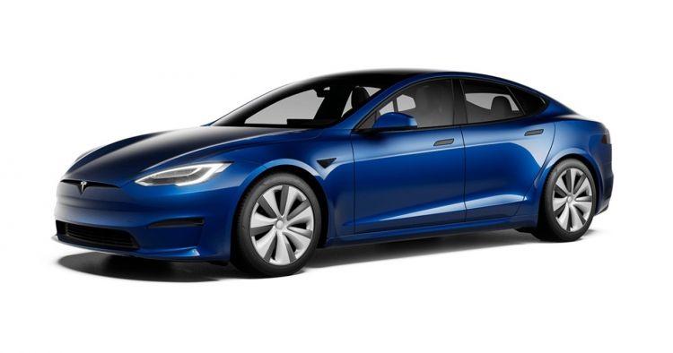 Tesla Model S 2021 Exterior Azul 004