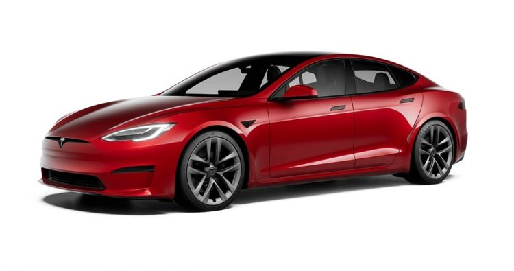 Tesla Model S 2021 Exterior Rojo 005