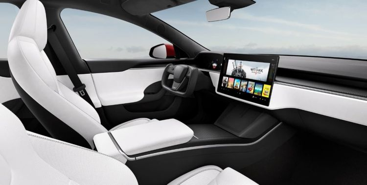 Tesla Model S 2021 Interior Blanco 007