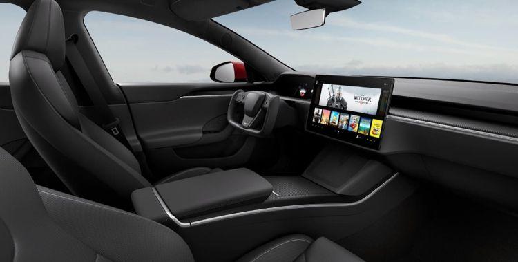 Tesla Model S 2021 Interior Negro 006
