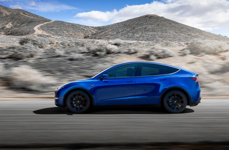 Tesla Model Y 2019 Azul Lateral Exterior
