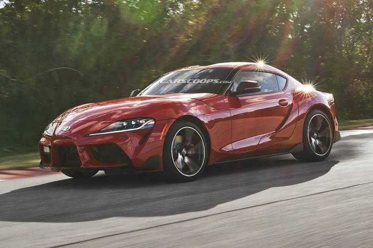 Toyota Supra Rojo Filtrado 16