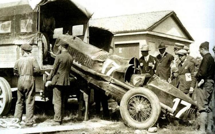 El Alfa Romeo P1 en el que Ugo Sivocci perdió la vida