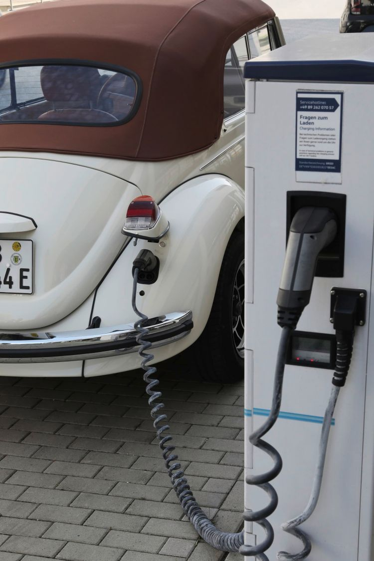 The E Beetle Is Being Charged