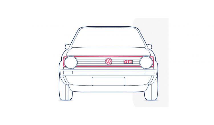 Volkswagen Golf Gti Ilustracion