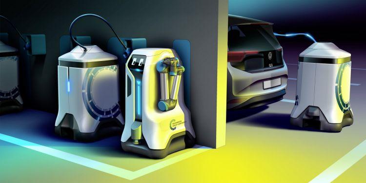 Volkswagen Robot Carga Coche Electrico 1