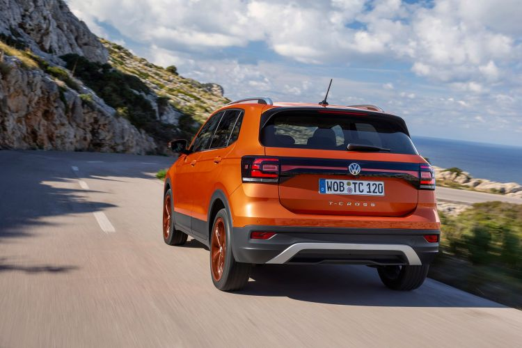Volkswagen T Cross 2019 Naranja Prueba Exterior 10