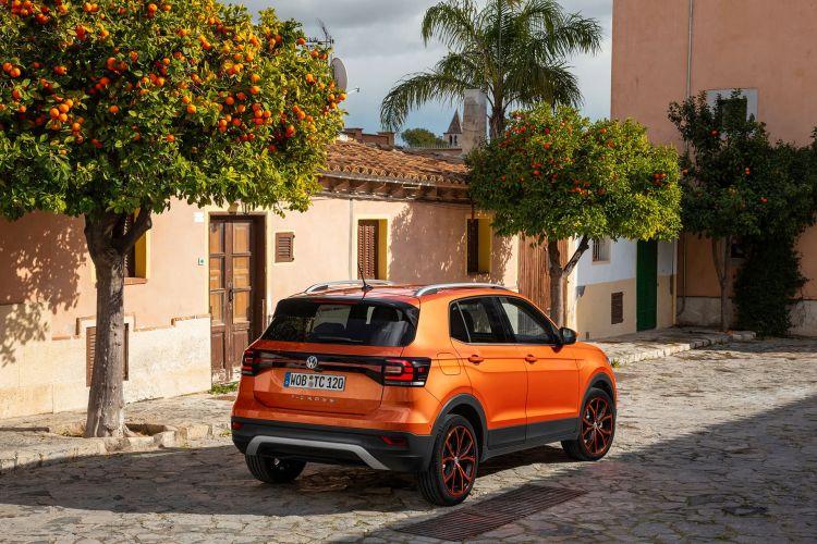 Volkswagen T Cross 2019 Naranja Prueba Exterior 13