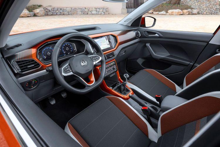 Volkswagen T Cross 2019 Naranja Prueba Exterior 21