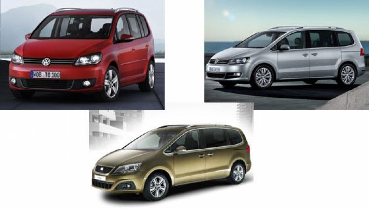 Volkswagen Touran, Volkswagen Sharan y Seat Alhambra