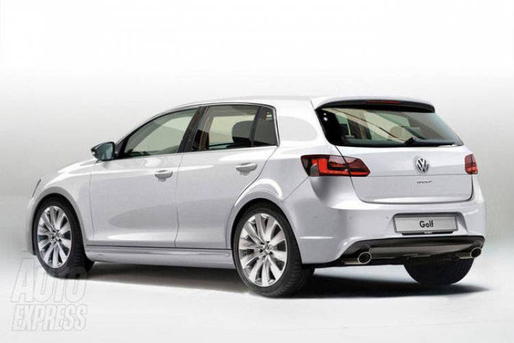 Recreación de la séptima generación del Volkswagen Golf