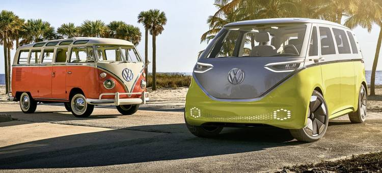 Volkswagen Showcar I.d. Buzz Und Volkswagen T1