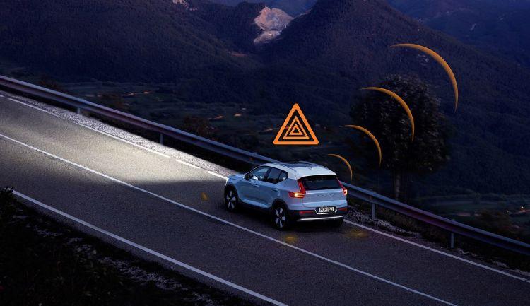 Volvo Seguridad Hazard Light Alert Coche Conectado