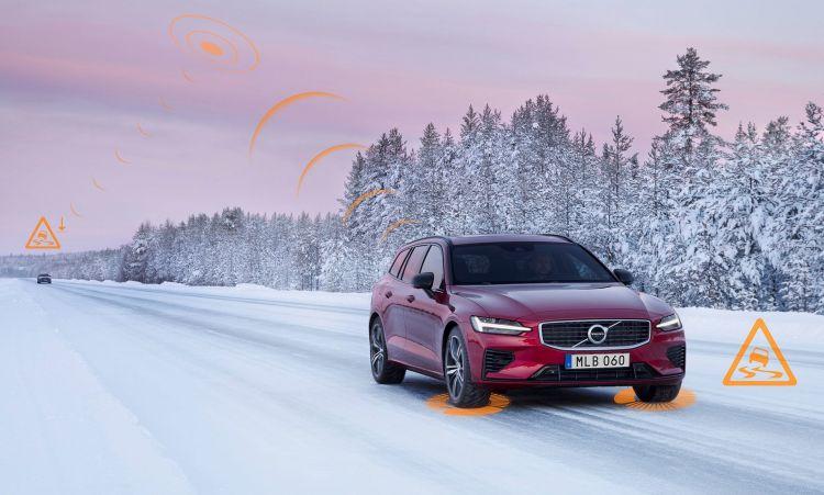 Volvo Seguridad Nieve Slippery Road