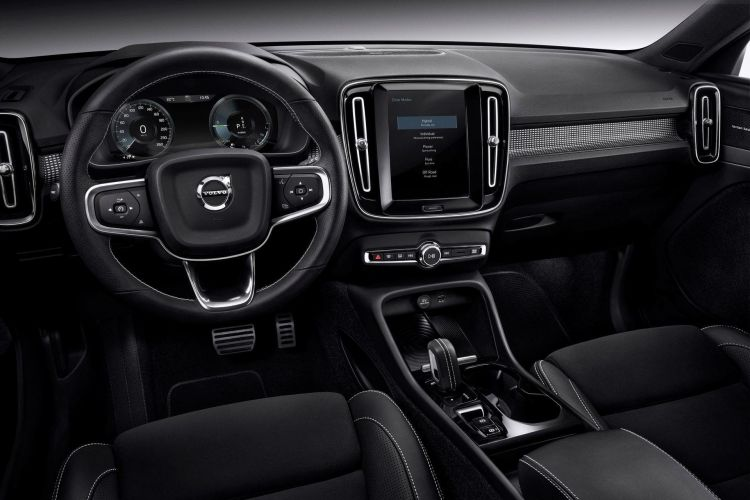 Xc40 Recharge Plug In Hybrid R Design , Leather Charcoal In Charcoal Interior
