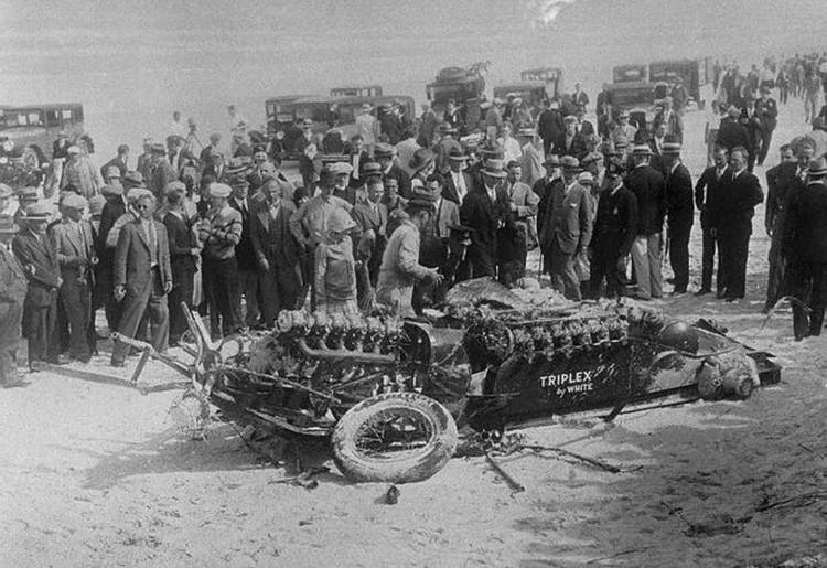 Wreckage of Race Car After Killing Lee Bible