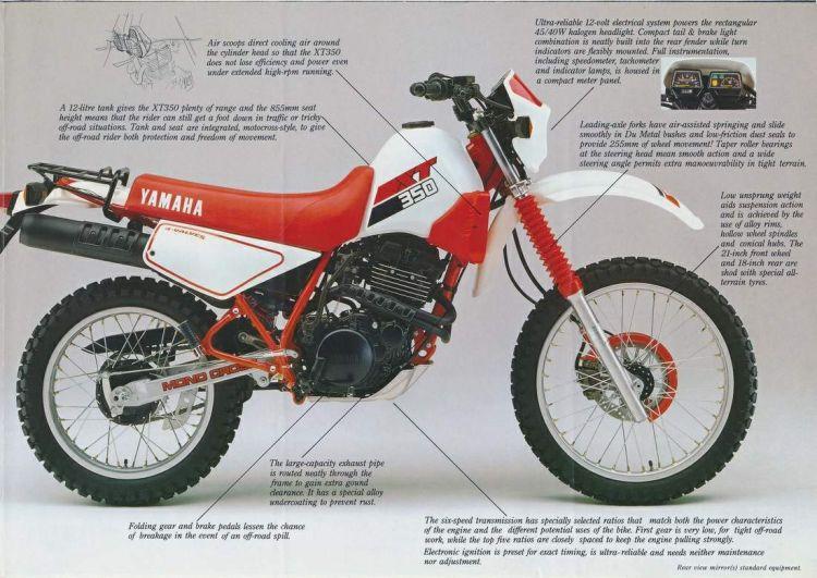 Yamaha Xt350 85 3