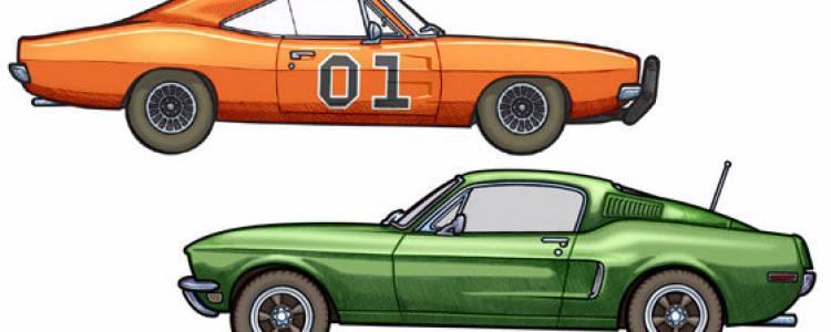 451 Illustrator, dibujos hechos a mano de coches de película ...