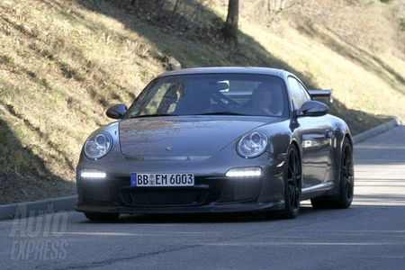 Porsche 911 GT3 RS, fotos espía sin camuflaje del lavado de cara