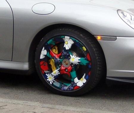 Llantas floridas para Porsche