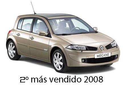 Renault Mégane, 2º más vendido 2008