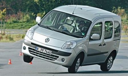 Renault Kangoo, problemas resueltos en la prueba del alce