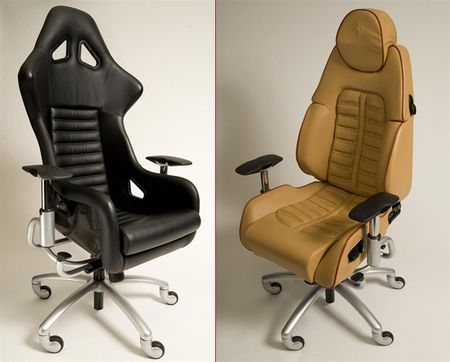sillas de oficina a partir de asientos de superdeportivos diariomotor. Black Bedroom Furniture Sets. Home Design Ideas