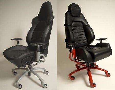 Sillas de oficina a partir de asientos de superdeportivos for Asientos para oficina