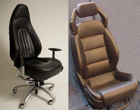 Sillas de oficina a partir de asientos de superdeportivos for Silla oficina recaro