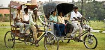 Rickshaw propulsado por energía solar: Soleckshaw