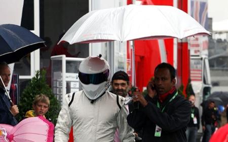 The Stig en el gran premio de Inglaterra