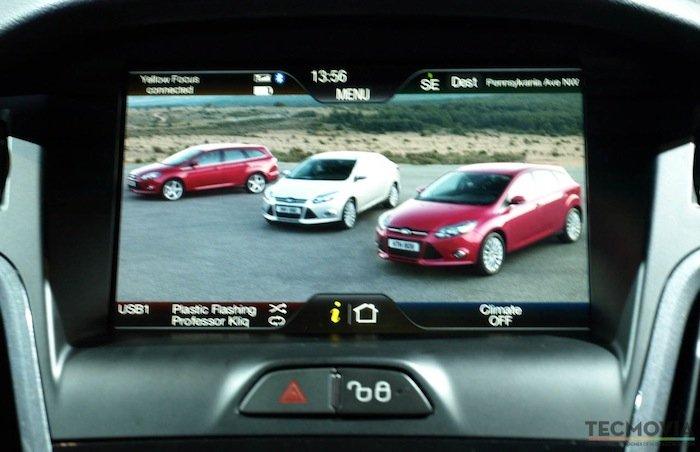 Ford Sync, pantalla táctil para el Bluetooth, la navegación, multimedia y climatización