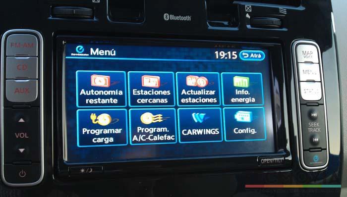 Nissan Leaf sistema multimedia