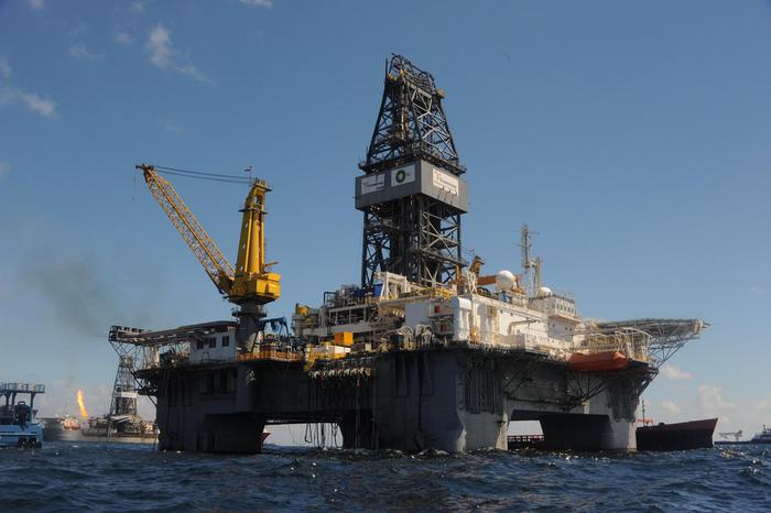 Plataforma petrolífera en el golfo de México