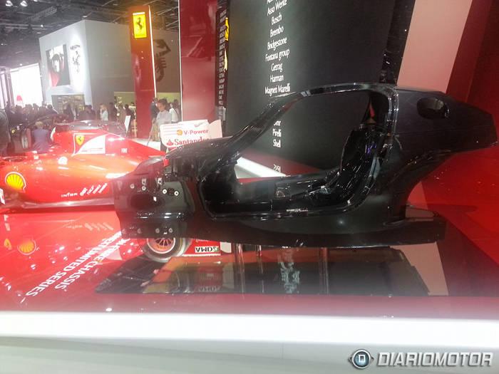 Monocasco del sucesor del Ferrari Enzo en París