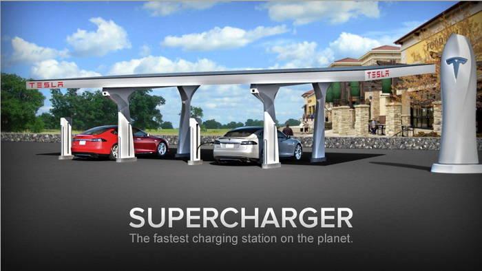 Tesla Model S Supercargador