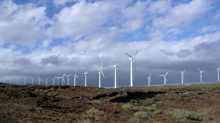Parque de turbinas eólicas