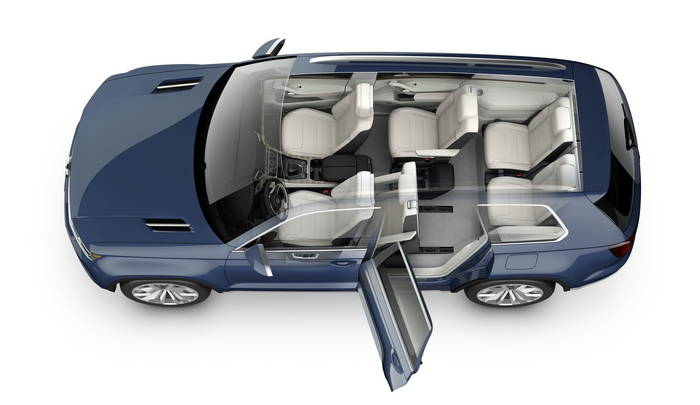 Volkswagen CrossBlue Concept: SUV híbrido enchufable con hasta 7 plazas