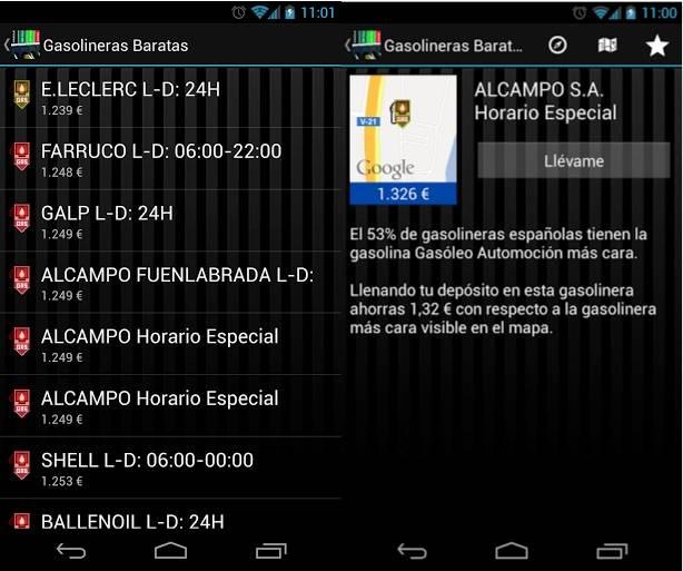 Capturas de pantalla de Gasolineras Baratas para Android