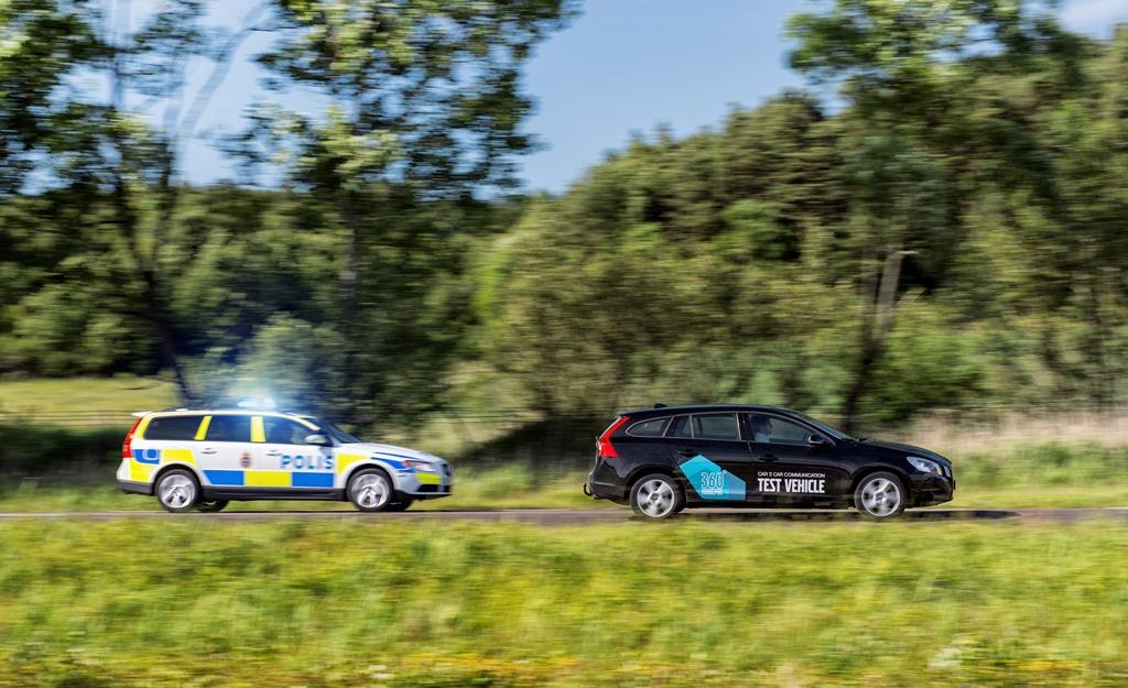 Volvo continúa demostrando el potencial de la comunicación Car2Car