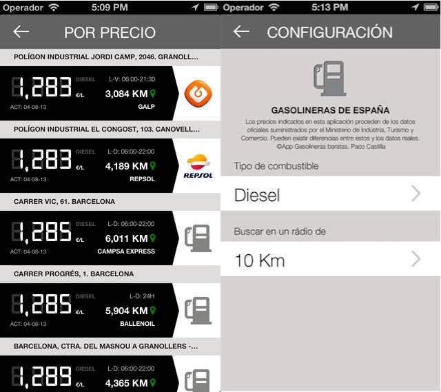 Capturas de pantalla de Gasolineras de España