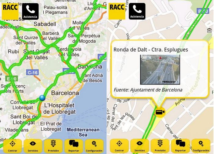 apps para evitar atascos racc infotransit